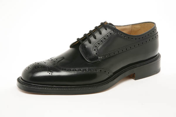 Black Leather Brogued Wingtip Derby's 'The Grafton' by Church's